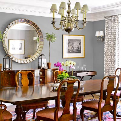 Splendid design wednesday home tour a light filled for Updating a traditional dining room