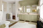 Upsized and Unified Master Bath with Period Style