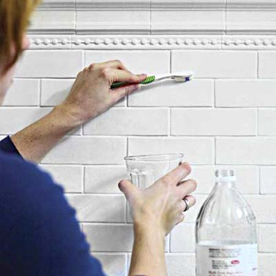 bathroom with vinegar vinegar will clean grout in your bathroom
