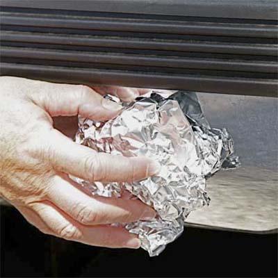 aluminum foil 01 أفكار جديدة  الرول الورقي حق السفرة ومناديل الحمام