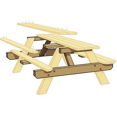 How To Build A Picnic Table Step By Outdoor Structures
