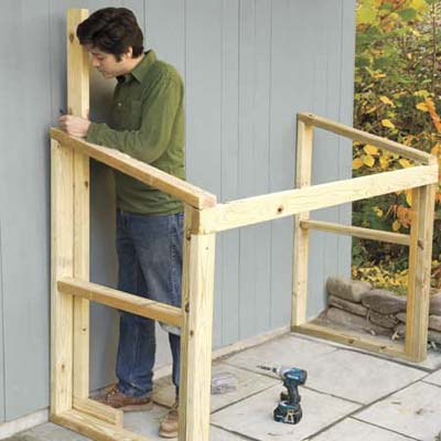 How to build a trash shed el garaje blanco - How to build a wooden shed in easy steps ...