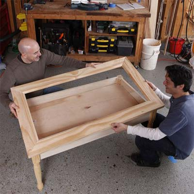 how to build a display coffee table el garaje blanco