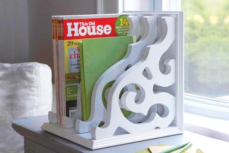 handmade magazine rack