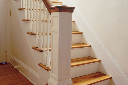 a repaired balustrade