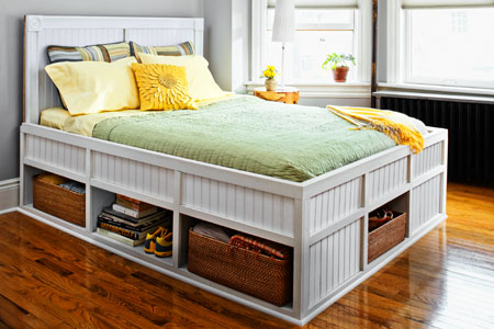 queen platform bed plans with storage
