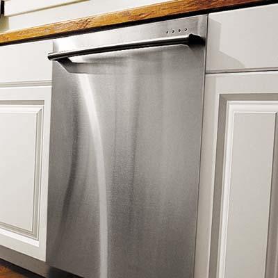 newly installed dishwasher