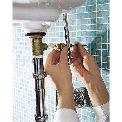 Bathroom Sink Stopper Hook Up