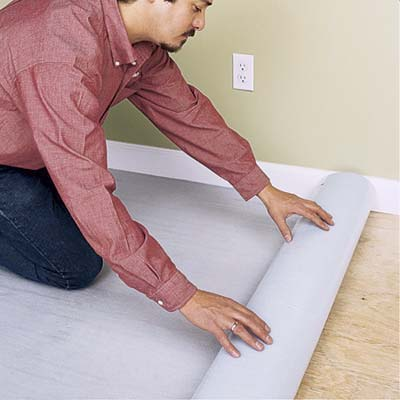 Install the foam underlayment