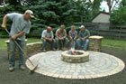 How to Build a Round Patio with a Fire Pit