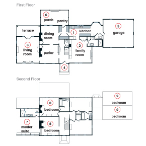 Charmed house floor plans floor plans for Charmed house blueprints