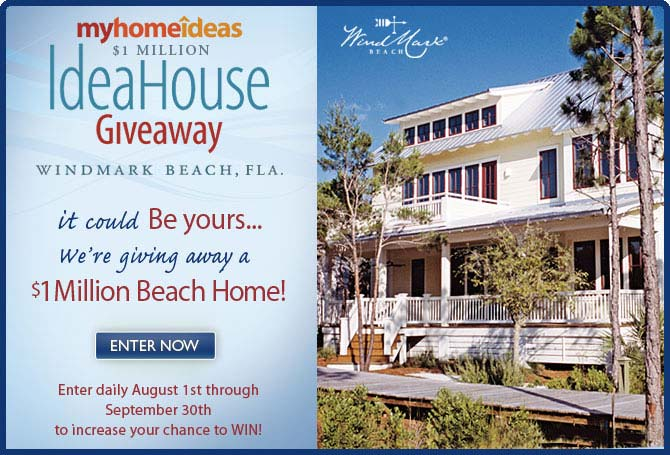 win a million dollar home in the  idea home giveaway from my home ideas