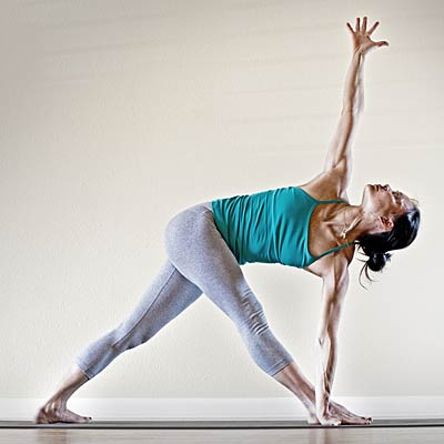 "open triangle pose or ""trikonasana""  bloated 14 yoga"