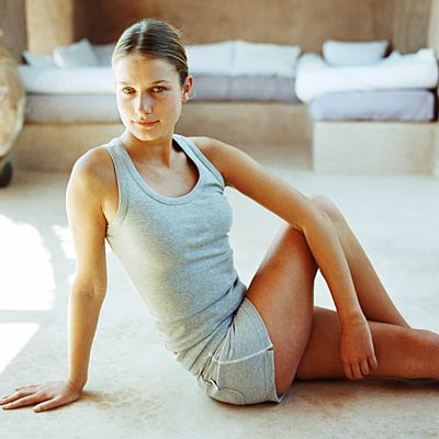 onelegged seated spinal twist  bloated 14 yoga poses