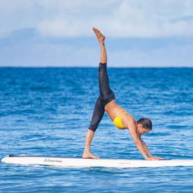 stand up paddleboarding yoga in maui  exotic places to