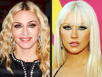 Bad Hair Styles for Madonna and Christina Aguilera