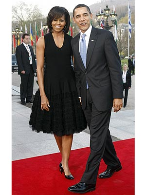 LITTLE BLACK DRESS photo   Barack Obama, Michelle Obama