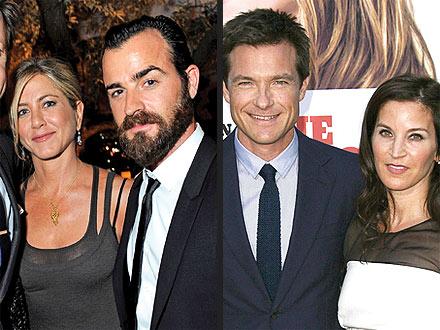 Jennifer Aniston & Jason Bateman's Double Date | Jason Bateman, Jennifer Aniston, Justin Theroux
