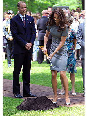 Prince William & Kate Plant a Tree to Symbolize Love | Kate Middleton, Prince William