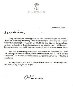 Kate Sends Personal Letter to Young Cancer Patient| Good Deeds, The British Royals, The Royals, Kate Middleton