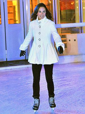 Pippa Middleton Goes Ice Skating in London | Pippa Middleton
