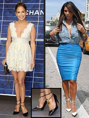 Jennifer Lopez, Kim Kardashian Tom Ford Shoes