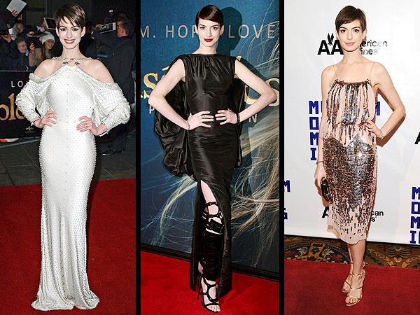 Anne Hathaway Les Mis Premeire Looks