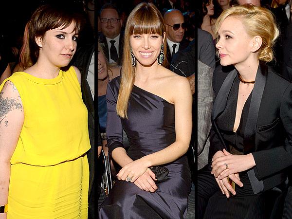 Jessica Biel, Lena Dunham, Carey Mulligan Grammys dates