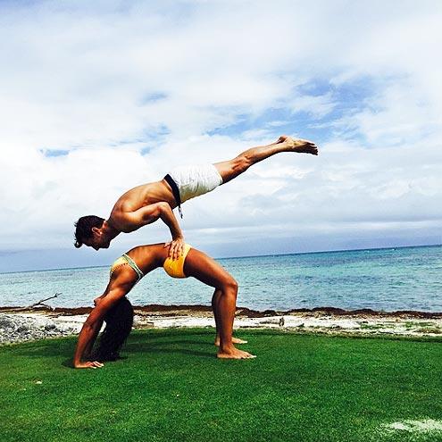 hannah bronfman brendan fallis yoga positions instagram