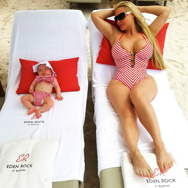 Coco Austin And Baby Chanel Show Off Matching Swimsuits Again During Beach Vacation