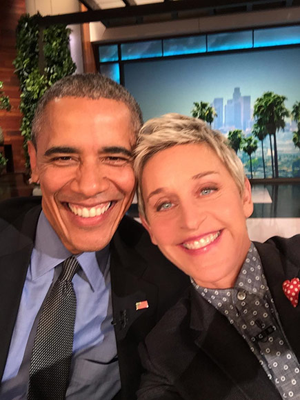 Ellen DeGeneres and Obama, dreamer